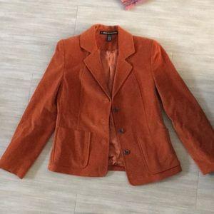 Orange petite Ellen Tracy blazer